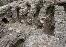Ruins of the Roman Baths at Perga in Turkey Royalty Free Stock Image