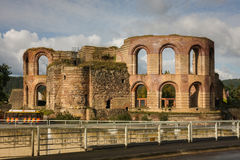 Ruins of roman baths. In Trier, Germany Stock Photo