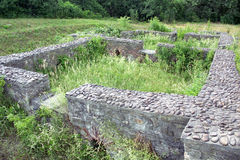 Ruins of Roman camp Stock Photos