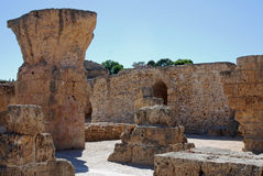 Ruins of Roman Carthage, Tunisia Stock Images