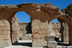 Ruins of Roman Carthage, Tunisia Royalty Free Stock Images