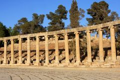 Jerash city, Jordan. Ruins of the Roman city of Gerasa, Jerash, Jordan Royalty Free Stock Image