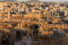 Jerash city, Jordan. Ruins of the Roman city of Gerasa, Jerash, Jordan Royalty Free Stock Photos