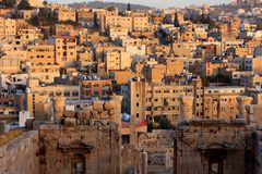 Jerash city, Jordan. Ruins of the Roman city of Gerasa, Jerash, Jordan Stock Photos