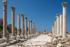 Ruins of the Roman city in Tyre Stock Photo