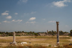 Ruins of the Roman city in Tyre Stock Photography