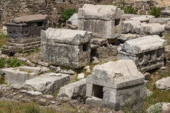 Ruins of the Roman city in Tyre Royalty Free Stock Photo