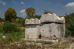 Ruins of the Roman city in Tyre Royalty Free Stock Images
