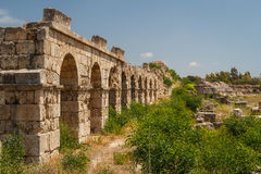 Ruins of the Roman city in Tyre. Lebanon Royalty Free Stock Photography