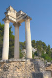 Ruins of Roman columns in Glanum (France) Stock Photos