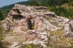 Ruins of the Roman fortress in Gate of Trojan mountain pass Stock Images