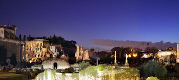 Ruins of the roman forum Royalty Free Stock Photos