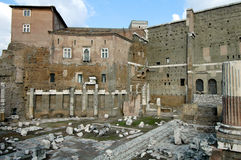 Ruins of roman forum Royalty Free Stock Images