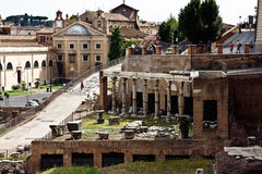 The ruins of the Roman forum. Italy Royalty Free Stock Photo
