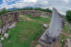 Ruins of the Ulpia Traiana Sarmizegetusa fortress, Romania Royalty Free Stock Photo