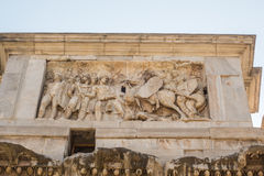 The Ruins of the Roman Forum. The Arch of Constantine close up Stock Photo