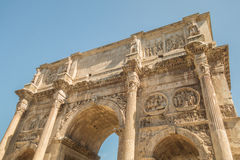 The Ruins of the Roman Forum. The Arch of Constantine close up Royalty Free Stock Image