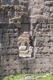 The Ruins of the Roman Forum. Building window in Trajan's marketplace Stock Images