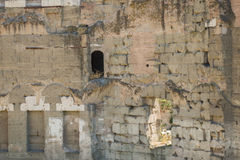 The Ruins of the Roman Forum. Building window in Trajan's marketplace Stock Photo