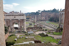 Ruins of Roman Forum Stock Photography