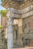 The Ruins of the Roman Forum. Close up of the Peristyle Forum of Nerva Royalty Free Stock Photos