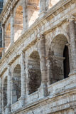 The Ruins of the Roman Forum (1). Close up of the walls of the Coliseum in Rome Royalty Free Stock Images