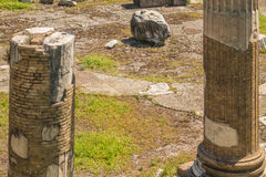 The Ruins of the Roman Forum. Columns at Trajan's Marketplace across from the Forum Royalty Free Stock Images