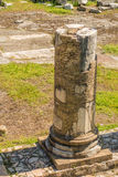 The Ruins of the Roman Forum. Columns at Trajan's Marketplace across from the Forum Stock Photo