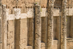 The Ruins of the Roman Forum. Columns at Trajan's Marketplace across from the Forum Stock Image