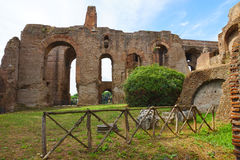The ruins of the Roman Forum, Italy Stock Photos