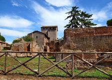 Ruins of the Roman Forum, Italy Royalty Free Stock Image
