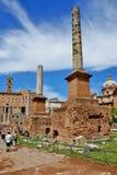 Ruins of the Roman Forum, Italy Stock Photos