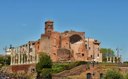 Ruins of Roman Forum Stock Photo