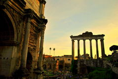 Ruins of the Roman forum Stock Photography