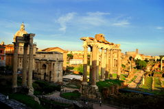 Ruins of the Roman forum Royalty Free Stock Photo