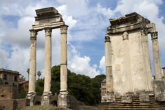 Ruins of Roman Forum in Rome Stock Photography