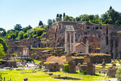 The ruins of the Roman Forum in Rome Stock Photo