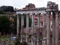Ruins of Roman forum. Rome Royalty Free Stock Photography