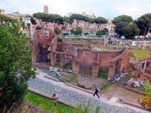 Ruins of Roman forum. Rome Stock Photo
