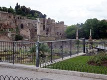 Ruins of Roman forum. Rome Royalty Free Stock Images
