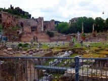 Ruins of Roman forum. Rome Royalty Free Stock Photo