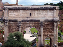 Ruins of Roman forum. Rome Stock Images