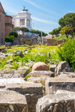 The ruins of the Roman Forum in Rome Stock Photography