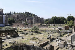 Ruins of roman forum Stock Image