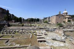 Ruins of roman forum Stock Photography