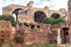 Ruins of Roman Forum in Rome Stock Image