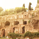 The ruins of the Roman Forum in Rome Stock Photos