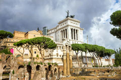 Ruins of Roman Forum in Rome. Italy. Stock Image
