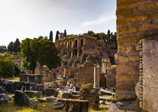 Ruins of the Roman Forum in Rome, Italy. Stock Photography