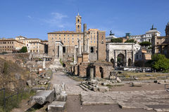 Ruins of the Roman Forum Stock Photo